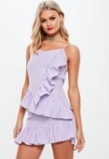 Missguided lilac frill gingham mini dress ~ ruffled dresses