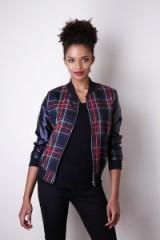 Liquorish Tartan Bomber Jacket ~ check print jackets