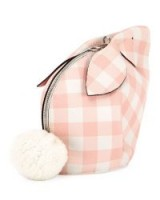 Loewe Bunny Gingham Mini Crossbody Bag / cute pink check rabbit bags