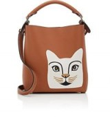 LOEWE Cat Small Tan Leather Bucket Bag – kitty print bags