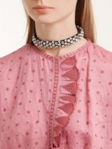 ISABEL MARANT Lush Stuff crystal-embellished suede choker / clear stone chokers