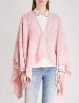 MAJE Pink M print knitted poncho – spring ponchos