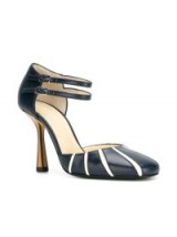 MARNI striped Mary Jane pumps – double strap Mary Janes