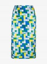 Mary Katrantzou Toy Brick Print Pencil Skirt / printed skirts