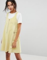 Max&Co Cord Zip Dress – yellow corduroy pinafore dresses