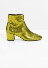 and other stories Gold Metallic Ankle Boots
