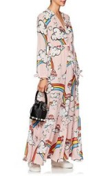 MIRA MIKATI Mushroom Dress – long pink printed dresses