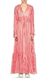 MIRA MIKATI Striped Georgette Maxi Dress – sheer long dresses