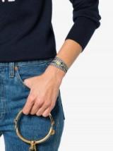 Miu Miu Daisy Charm Gingham Bracelet / checked fabric jewellery