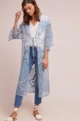 Monica Sheer Floral Kimono | blue luxe style kimonos