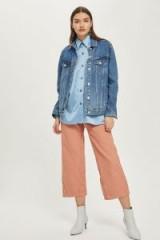 MOTO Pink Corduroy Cropped Wide Leg Jeans – crop leg cords