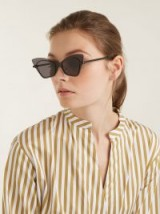 KAREN WALKER EYEWEAR Mrs Brill cat-eye acetate sunglasses ~ black transparent eyewear