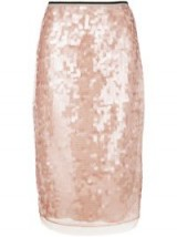 Nº21 pink sequin pencil skirt