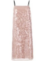 Nº21 sequinned shift dress / pink sequin cami dresses