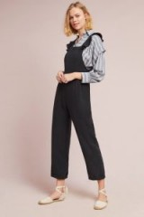 Dolan Left Coast Octavia Ruffled Dungarees in black