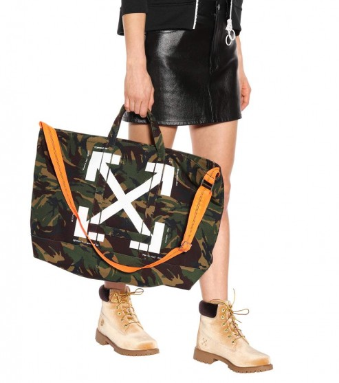 OFF-WHITE Camouflage tote / camo print shoppers