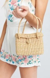 PAMELA V ~ FLORENCE MINI STRAW BAG in NATURAL / cute woven bags