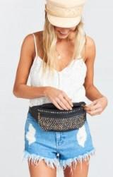 PAMELA V ~ REIGN STUD FANNY PACK in BLACK / leather studded bum bags