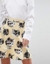 Paul & Joe Sister Cat Print Mini Skirt | kitty print skirts