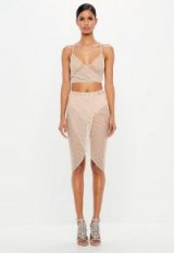peace + love nude embellished sheer skirt | see-through wrap skirts