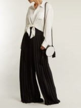 BY. BONNIE YOUNG Pleated wide-leg trousers ~ chic black pants