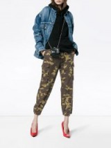PROENZA SCHOULER PSWL Camo Cargo Pant / cropped camouflage print trousers