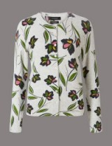 AUTOGRAPH Pure Cashmere Floral Print Cardigan / soft luxurious cardigans / M&S knitwear
