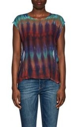 RAQUEL ALLEGRA Tie-Dyed Silk Chiffon Blouse – multicoloured tees