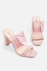 Topshop Raquel Chain Perspex Mule Sandals | transparent nude mules