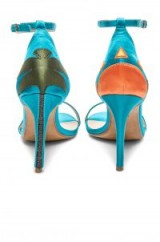 RAYE VACAY HEEL – teal-blue barely there heels