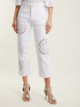 ISABEL MARANT Ronny broderie-anglaise cropped jeans ~ white cut-out denim