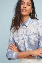 Maeve Rosalee Silk Buttondown Shirt | floral shirts