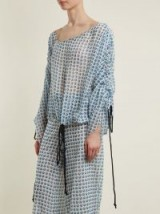 BY. BONNIE YOUNG Rose-print silk-chiffon blouse | gathered tops
