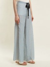 BY. BONNIE YOUNG Rose-print wide-leg silk-chiffon trousers