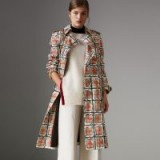 BURBERRY Scribble Check Cotton Trench Coat ~ chic spring coats