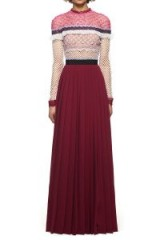 $388.00 SELF PORTRAIT BELLIS LACE TRIM MAXI DRESS, SP15-007L