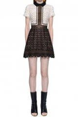 $202.30 Self Portrait Felicia Lace Mix Dress