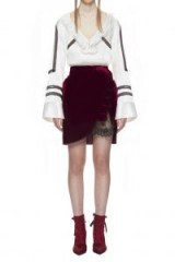 $206.40 SELF PORTRAIT VELVET UTILITY MINI SKIRT