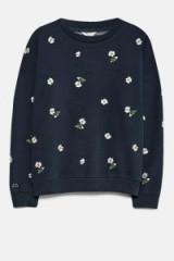 JACK WILLS SENNEN EMBROIDERED SWEATSHIRT | navy blue floral sweatshirts