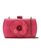 SERPUI straw clutch. SMALL 3D FLORAL BAGS