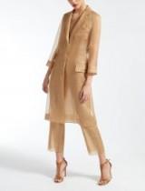 MaxMara Silk organza coat | sheer camel coats