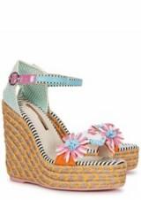 SOPHIA WEBSTER Lucita floral espadrille wedge sandals | pretty summer wedges