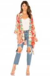 Spell & The Gypsy Collective DELILAH PATCHWORK KIMONO | red floral kimonos