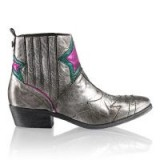 Russell & Bromley STARDUST Western Ankle Boot / metallic cowboy boots