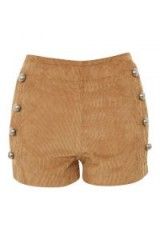 WYLDR Stevie Tan Corduroy Double Breasted Shorts – light brown cord