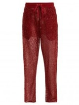 ASHISH Straight-leg bead and sequin-embellished trousers – luxe track pants