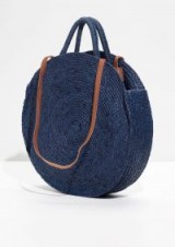 & OTHER STORIES Straw Circle Bag. ROUND BLUE WOVEN BAGS