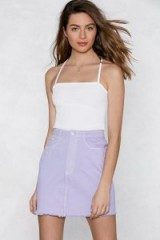 NASTY GAL Such a Show Off Denim Skirt ~ lilac skirts