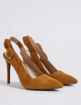 M&S COLLECTION Ginger Suede Stiletto Heel Slingback Court Shoes