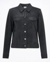 JIGSAW SUEDE TRUCKER JACKET / modern style jackets